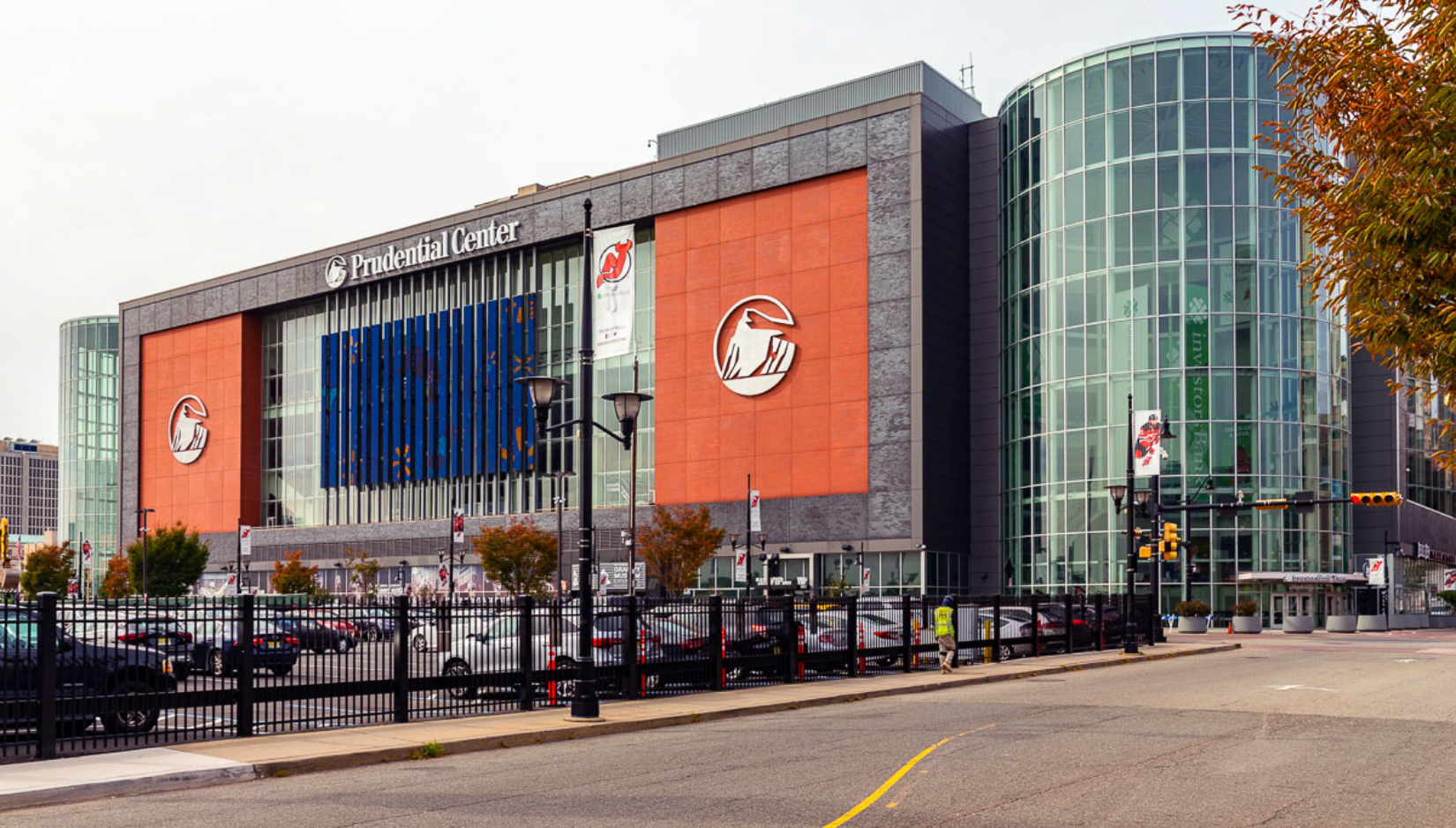 Exterior of Prudential Center and parking lot>                             </div>                          </div>                         <div class=